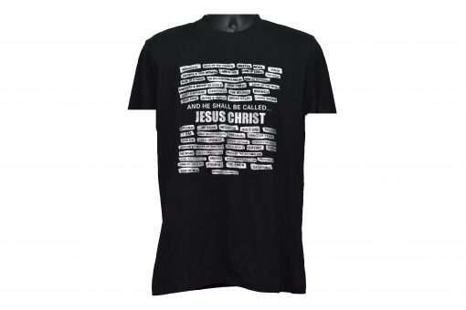 Black T-shirt With White Writing