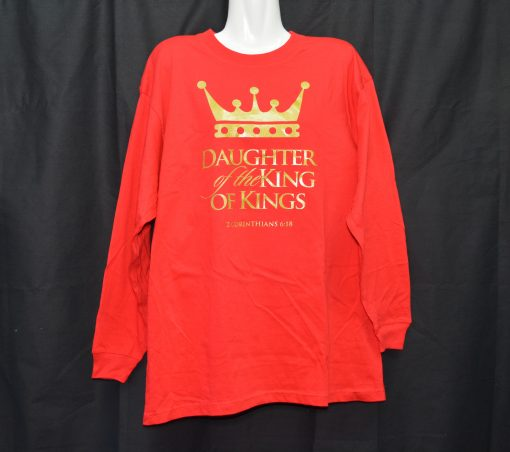 Red Long Sleeve With Gold